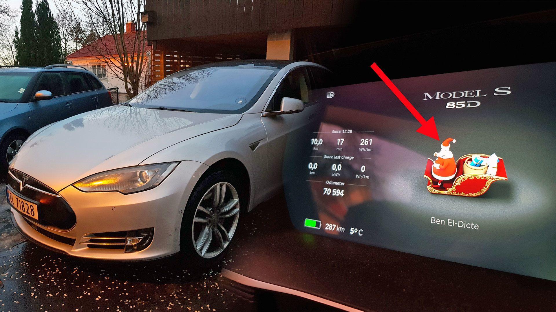 Si «Ho-ho-ho» til en Tesla, og se hva som skjer...