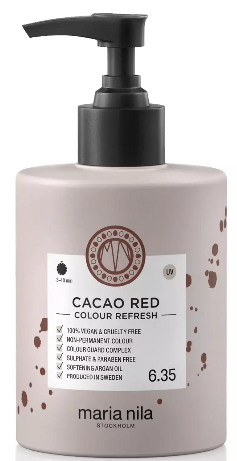 Hårinpackningen Colour Refresh från Maria Nila i nyansen Cacao Red.