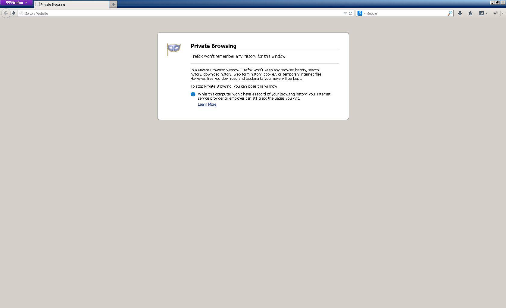 Slik ser Firefox' private nettleserøkt ut.Foto: Mozilla