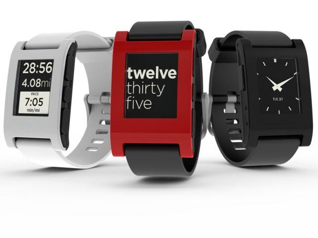 Den originale Pebble-klokken har e-papirskjerm, og dermed også forholdsvis god batteritid.Foto: Pebble