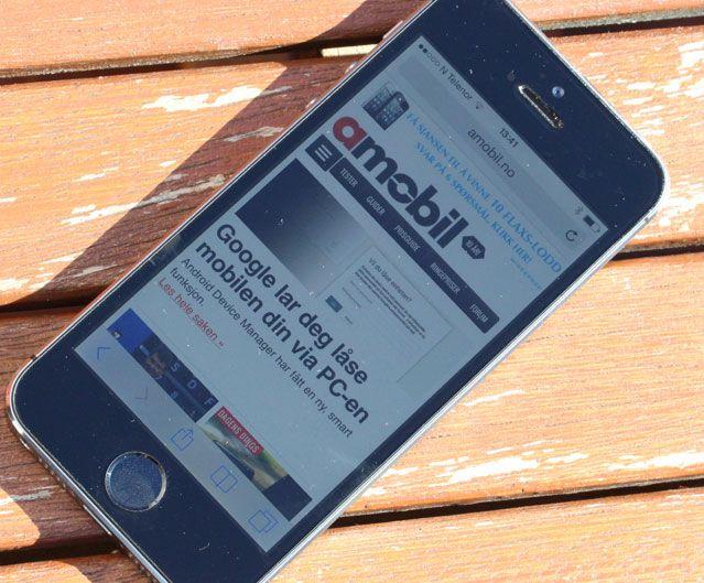 Få mobiltelefoner, om noen, er lettere å lese i sollys. Foto: Espen Irwing Swang, Amobil.no