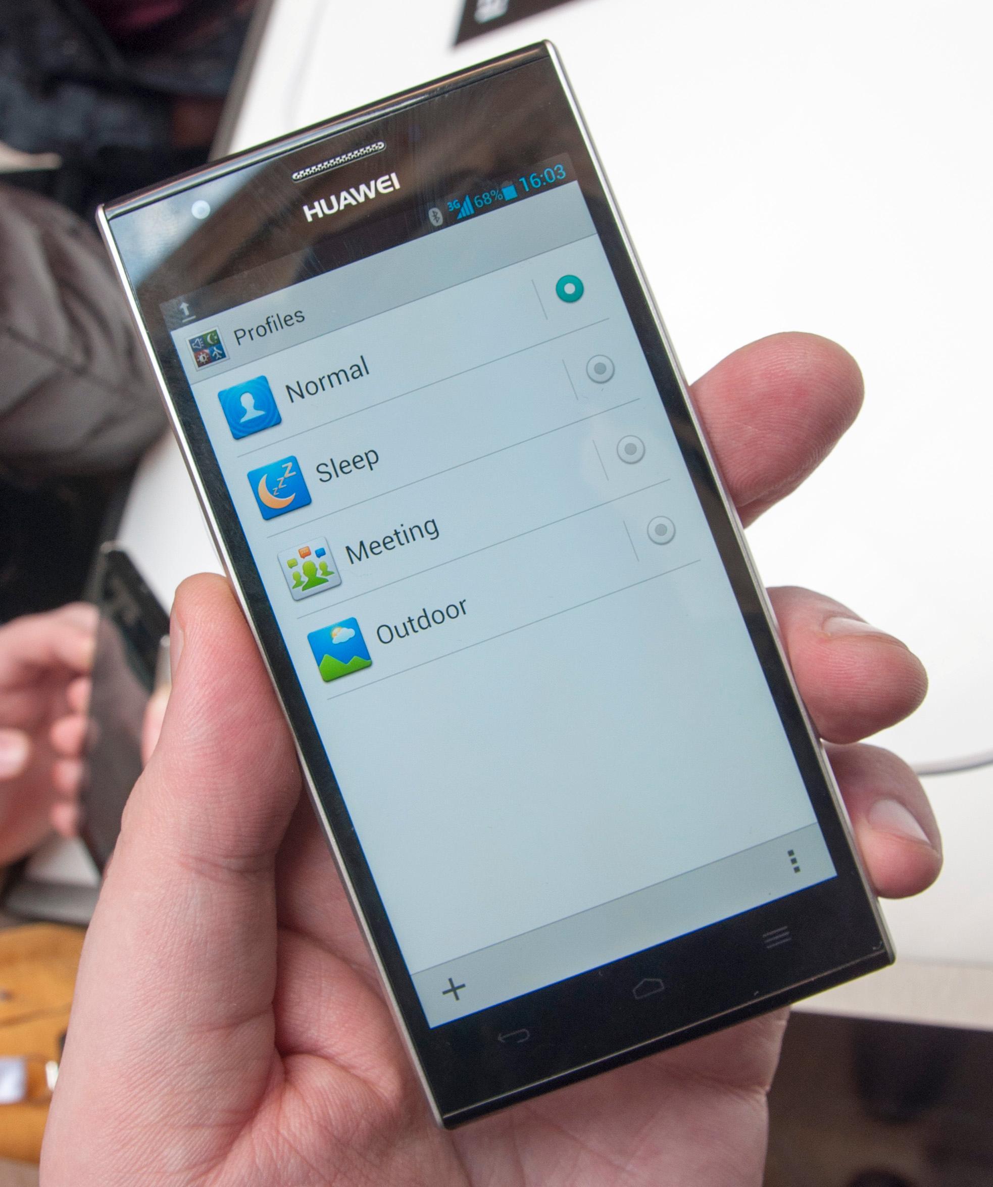 Du kan tilpasse telefonens innstillinger med ulike profiler.