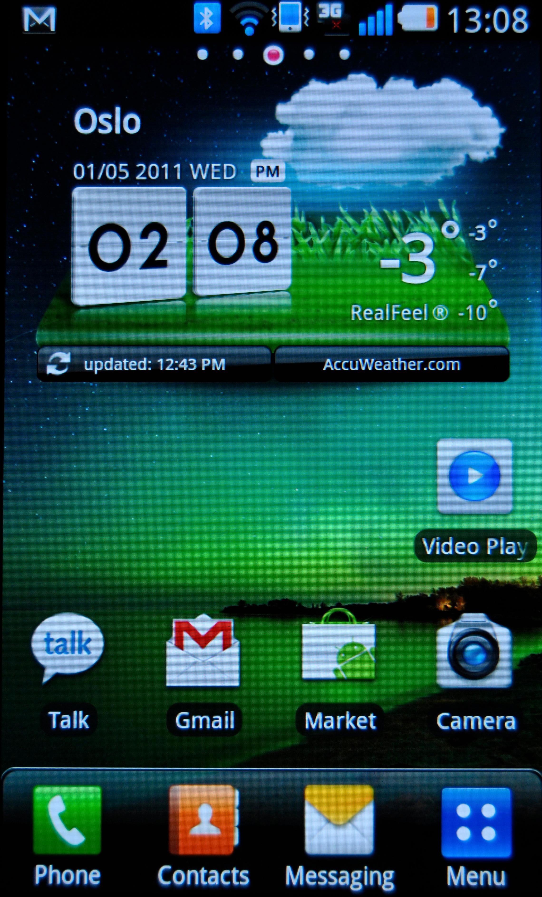 LG har gjort noen grafiske tilpasninger i menysystemet. Man skal også kunne velge vanlig Android uten LGs tilpasninger.