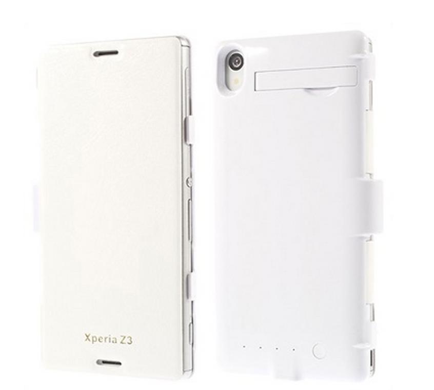 Xperia Z3 har flere svært praktiske deksler av denne typen. Her slipper du dessuten unna den irriterende klumpen på bunnen. Foto: Mytrendyphone