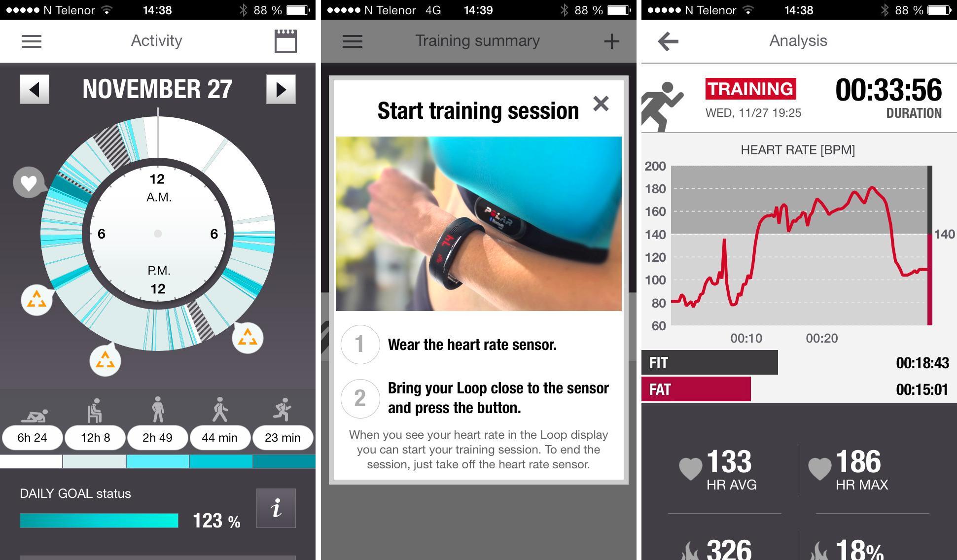 iPhone-appen gir deg informasjon om aktivitetsnivået ditt.