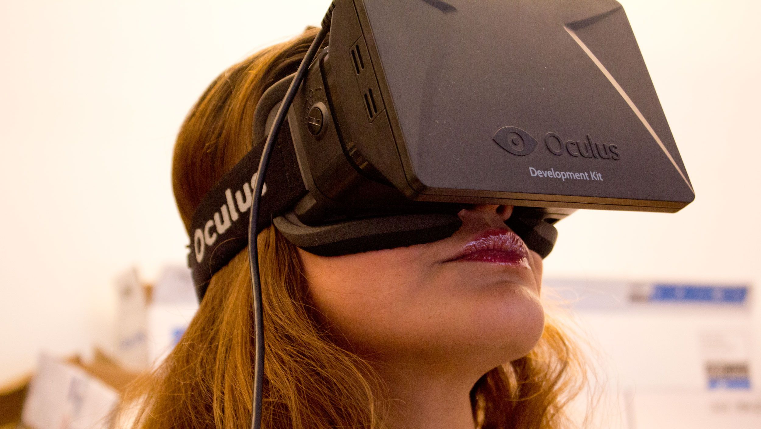 Oculus Rift ble en store snakkisen på CES 2013.Foto: Jørgen Elton Nilsen, Hardware.no