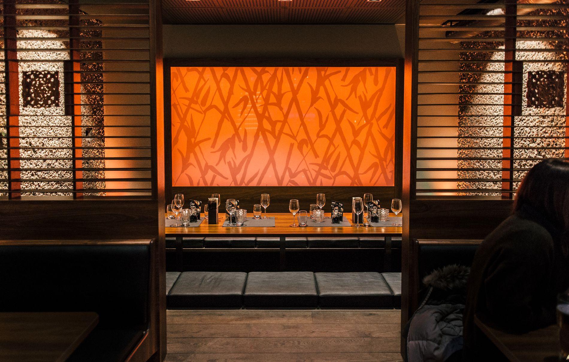 Sumo har flotte rom egnet for både store og små selskap.