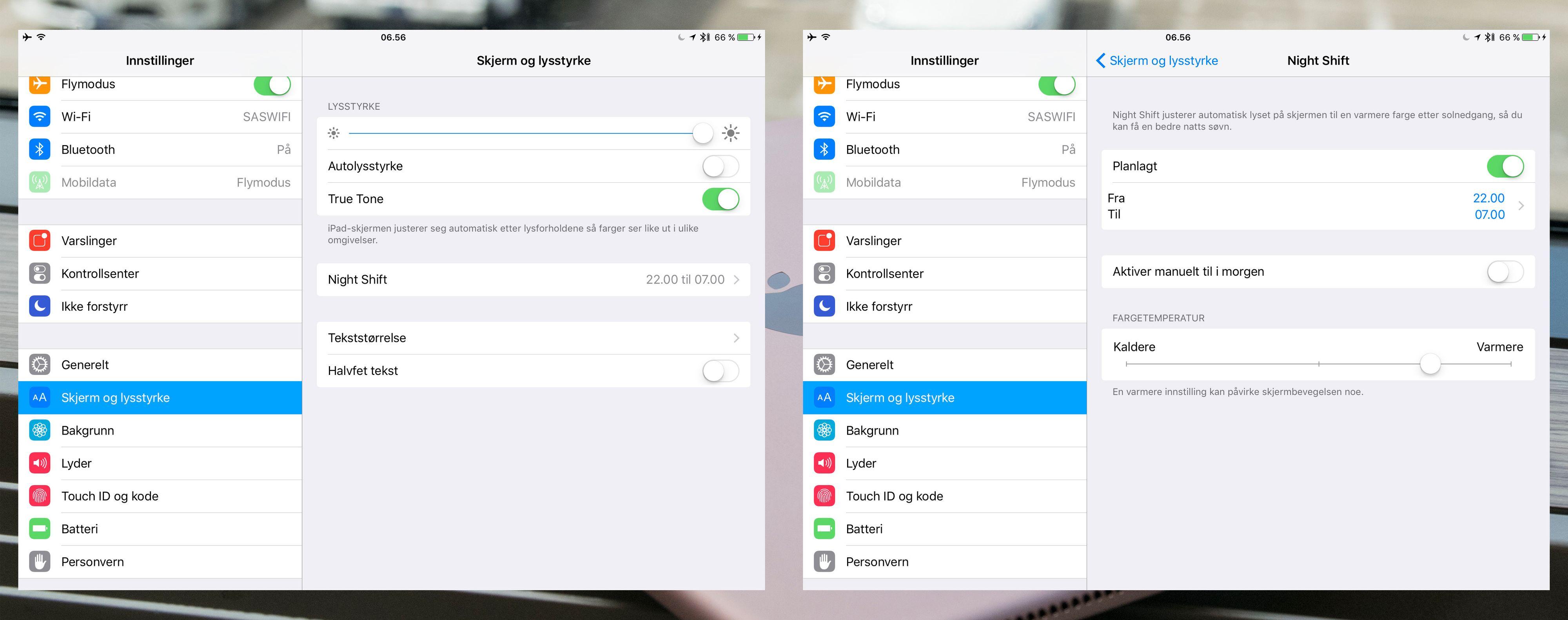 Et par funksjoner er nye i iPad Pro 9.7. Spesielt gjelder det True Tone-funksjonen som krever sensorer og den spesielle skjermløsningen som er valgt.