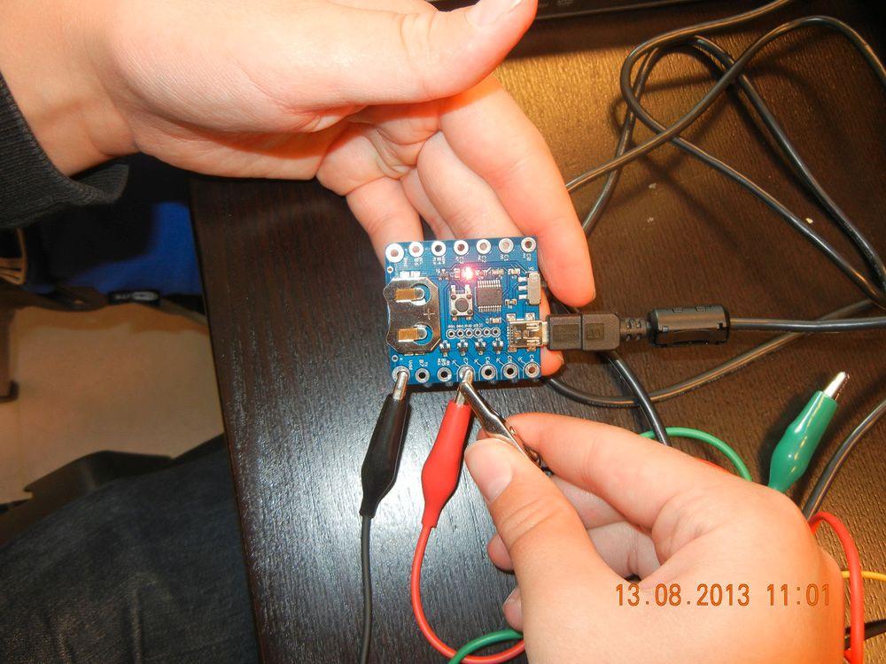 Litt hardware-programmering hørte også med. Foto: VIDI