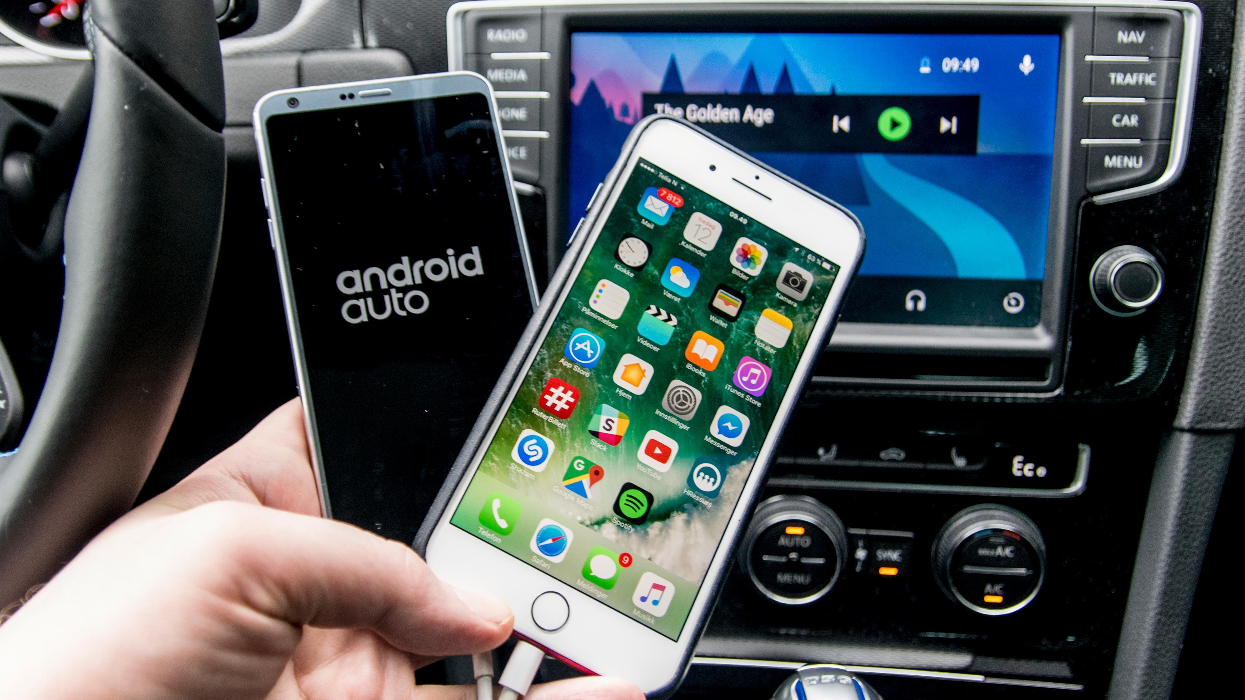 Apple Carplay mot Android Auto