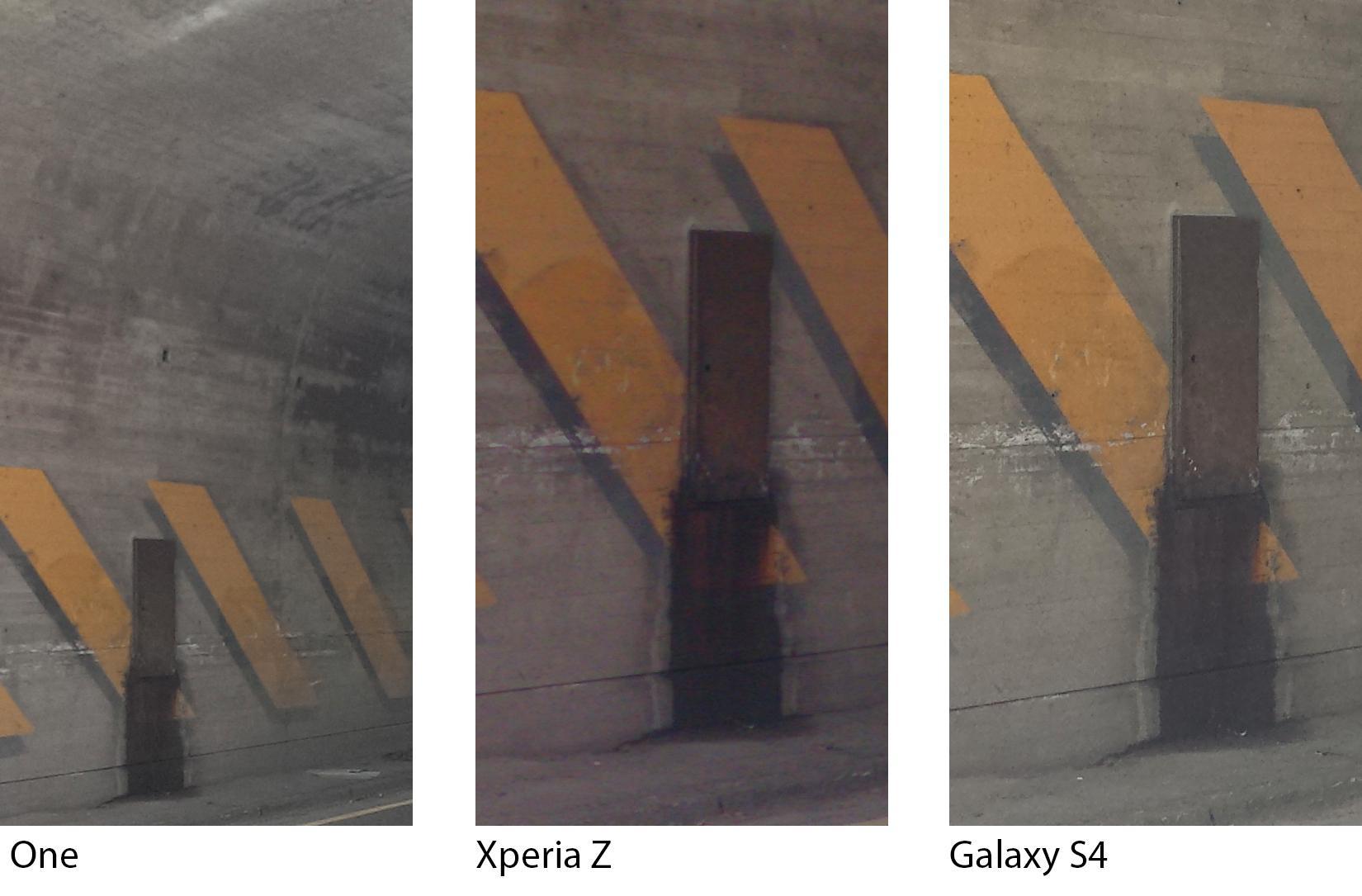 Vi tok med oss telefonene inn i en kort tunnel, med halvgod belysning. Med alle tre telefonene på auto, fikk vi det beste bildet fra Galaxy S4.Foto: Finn Jarle Kvalheim, Amobil.no