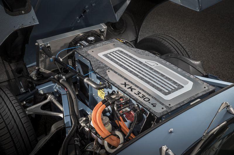 Bensinmotoren er byttet ut med en elektrisk-variant