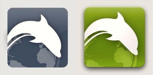 Dolphin Zero (til venstre) og Dolphin (til høyre).Foto: Dolphin Browser