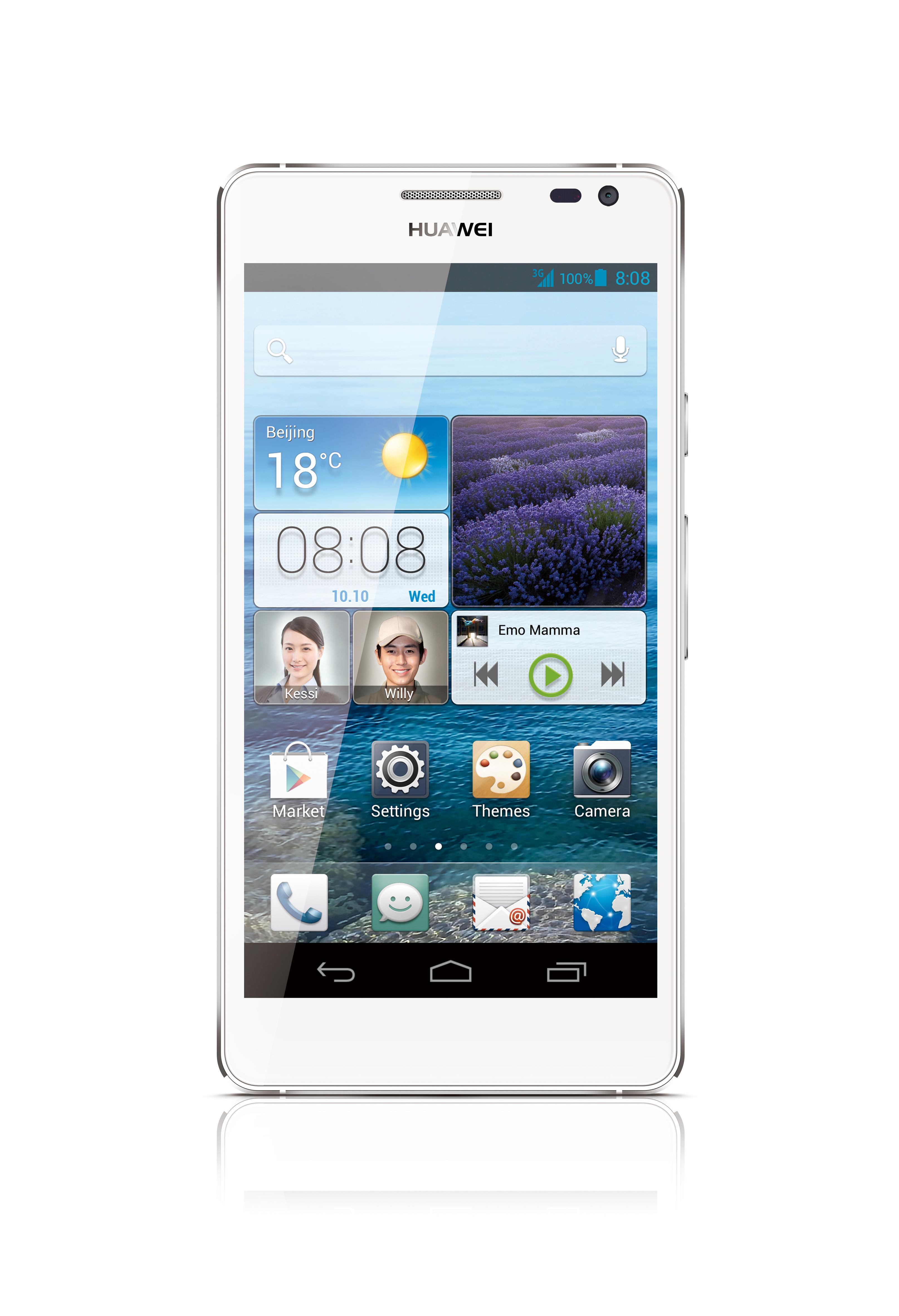 Huawei Ascend D2 har full-HD-skjerm og er vanntett.