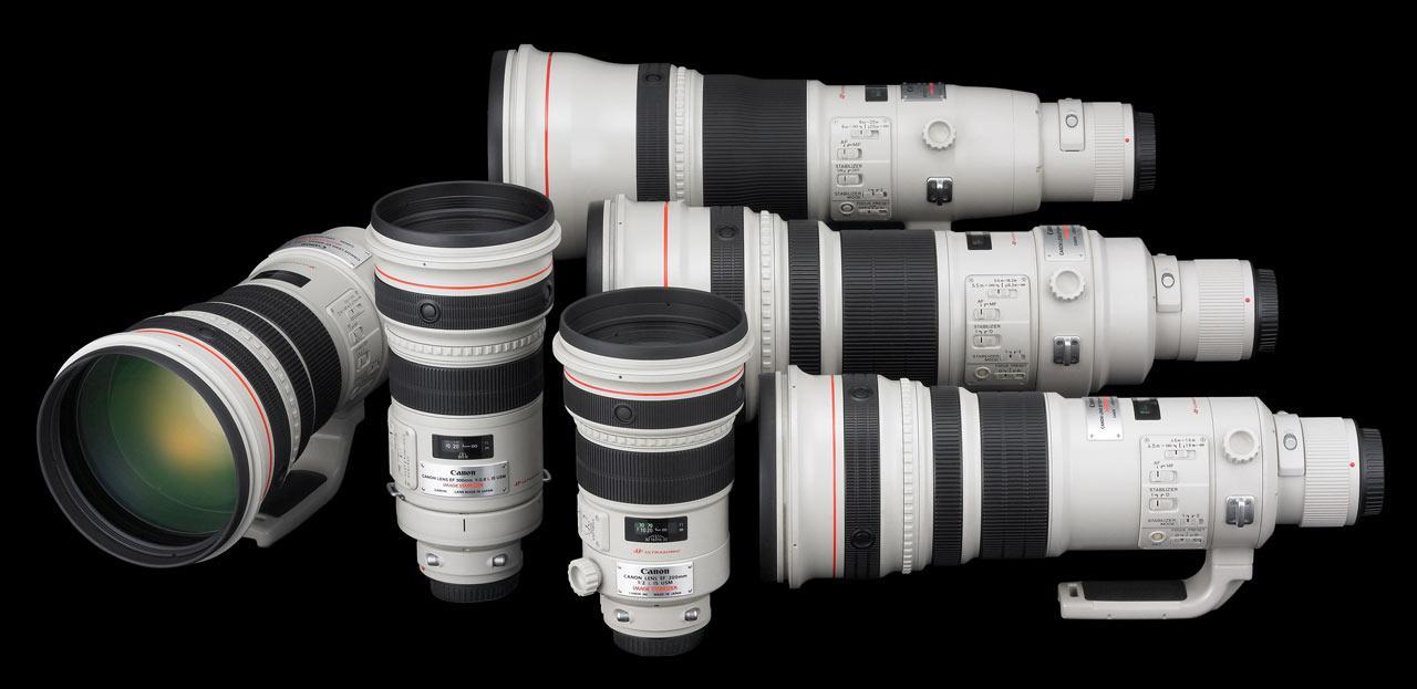 Canons familie av lyssterke teleobjektiver