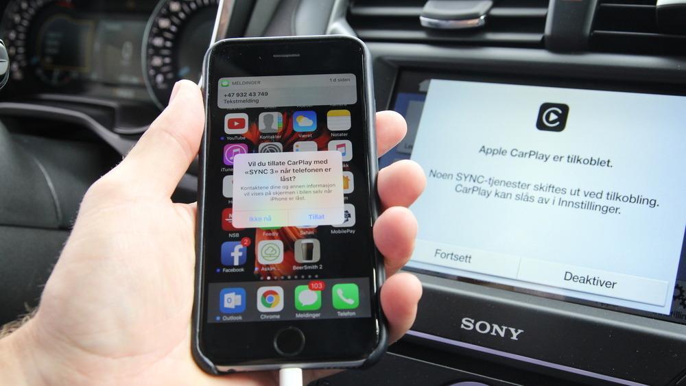 Ford er en av produsentene som har integrert Apple CarPlay og Android Auto i sine biler, gjennom sitt Sync 3-system.