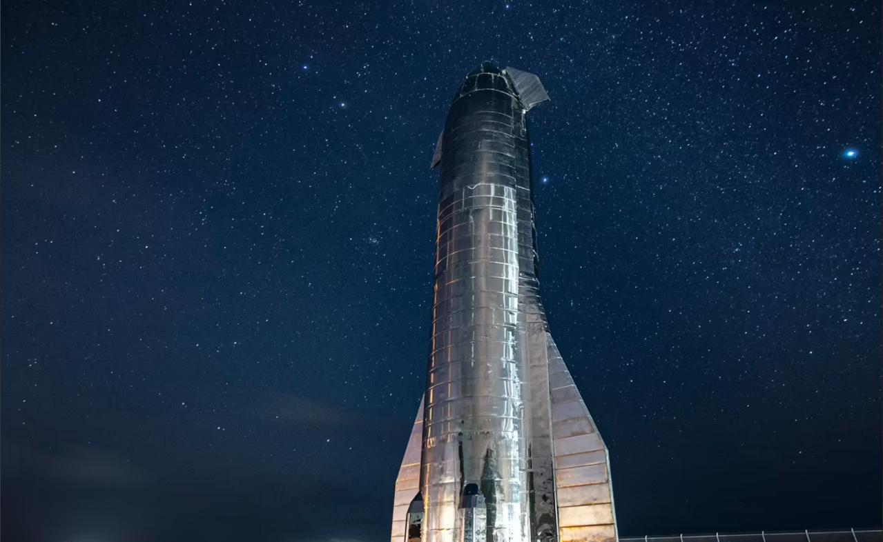 Bilde av Starship i en tidligere iterasjon.