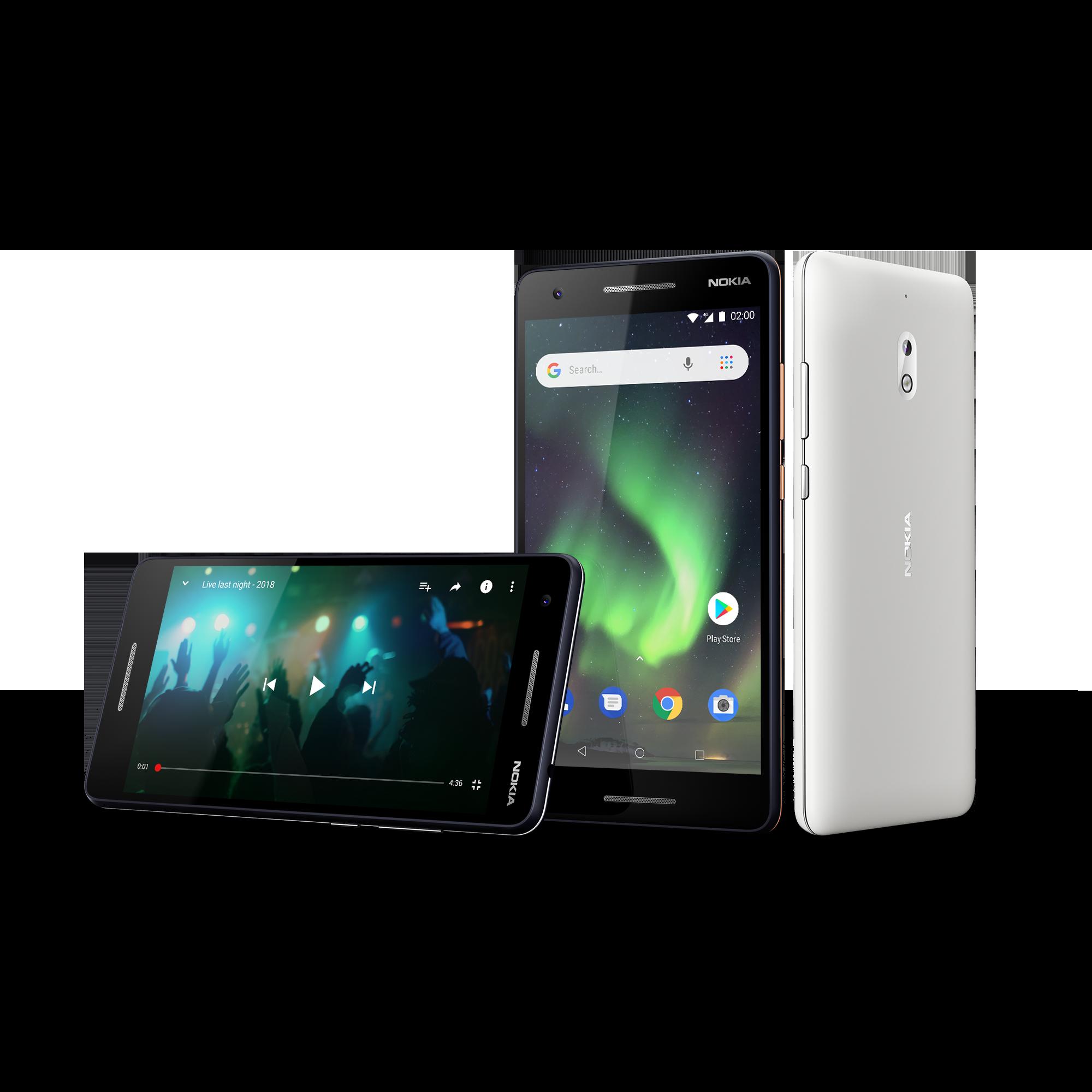 Nokia 2 er nest rimeligste smarttelefon i Nokia-utvalget. Litt oppgradert har den blitt siden fjorårets modell, og programvaren er Android Go.