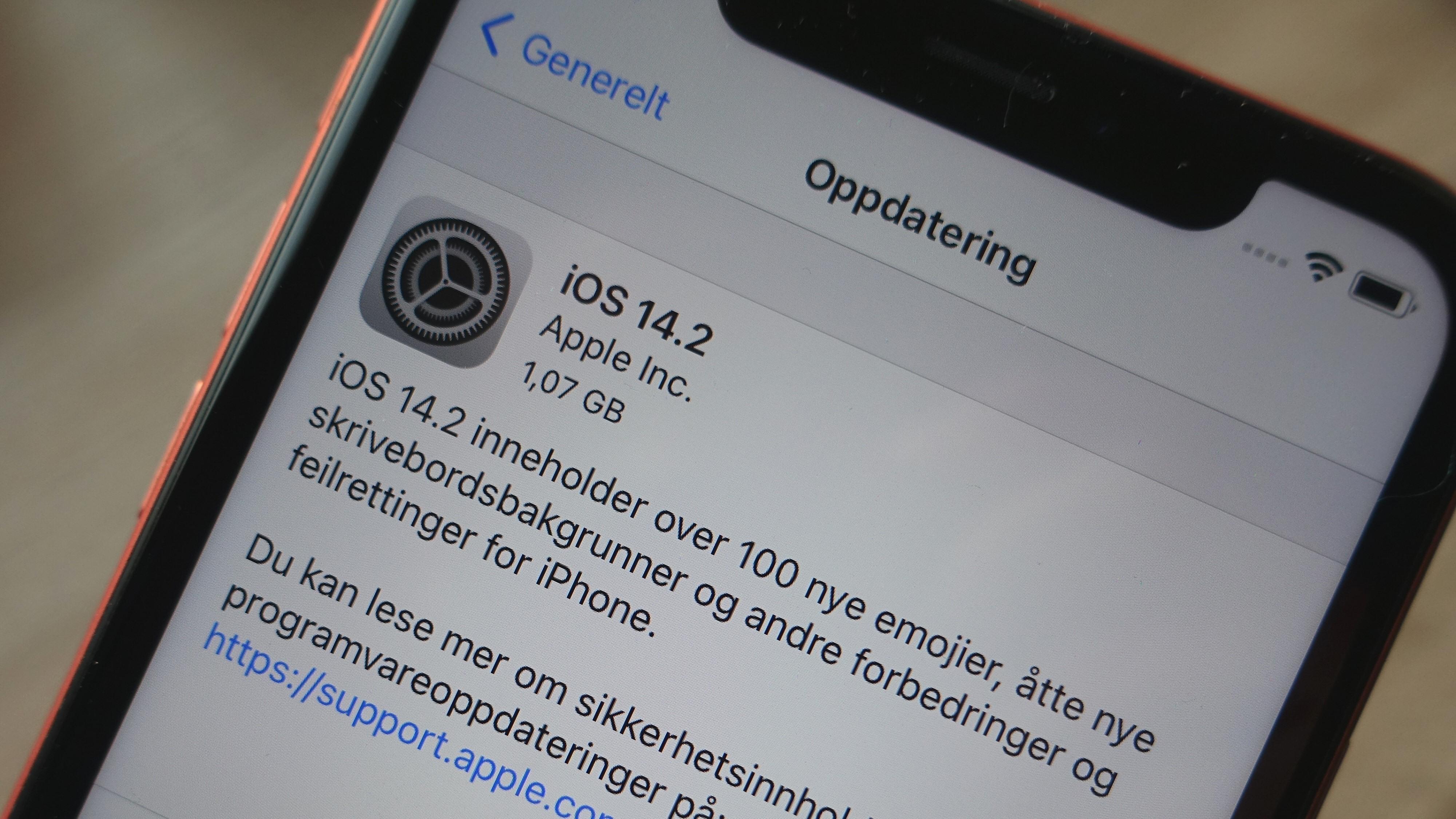 Apple har oppdatert iOS 14