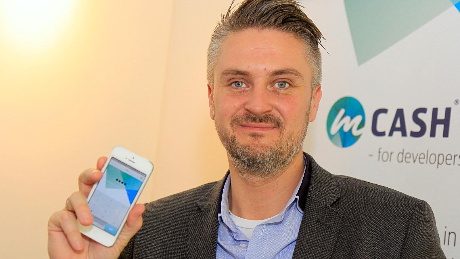 Daniel Döderlein i mCash mener NFC-teknologien er for komplisert, og satser heller på QR-koder.Foto: Kurt Lekanger, Tek.no