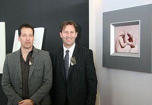 Heine di Leggerini (th) og Christian Warhuus.