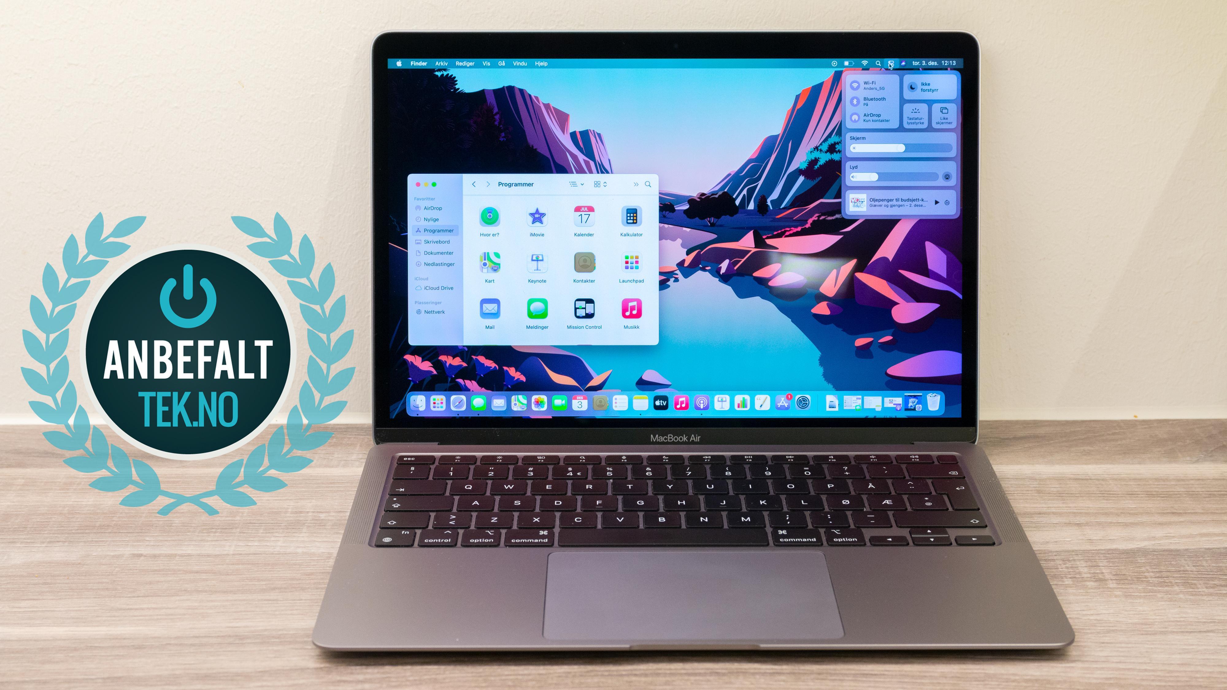 MacBook Air med M1-prosessor (sen 2020).