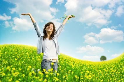 Mens mobilnettet er nede kan du for eksempel danse i en blomstereng.