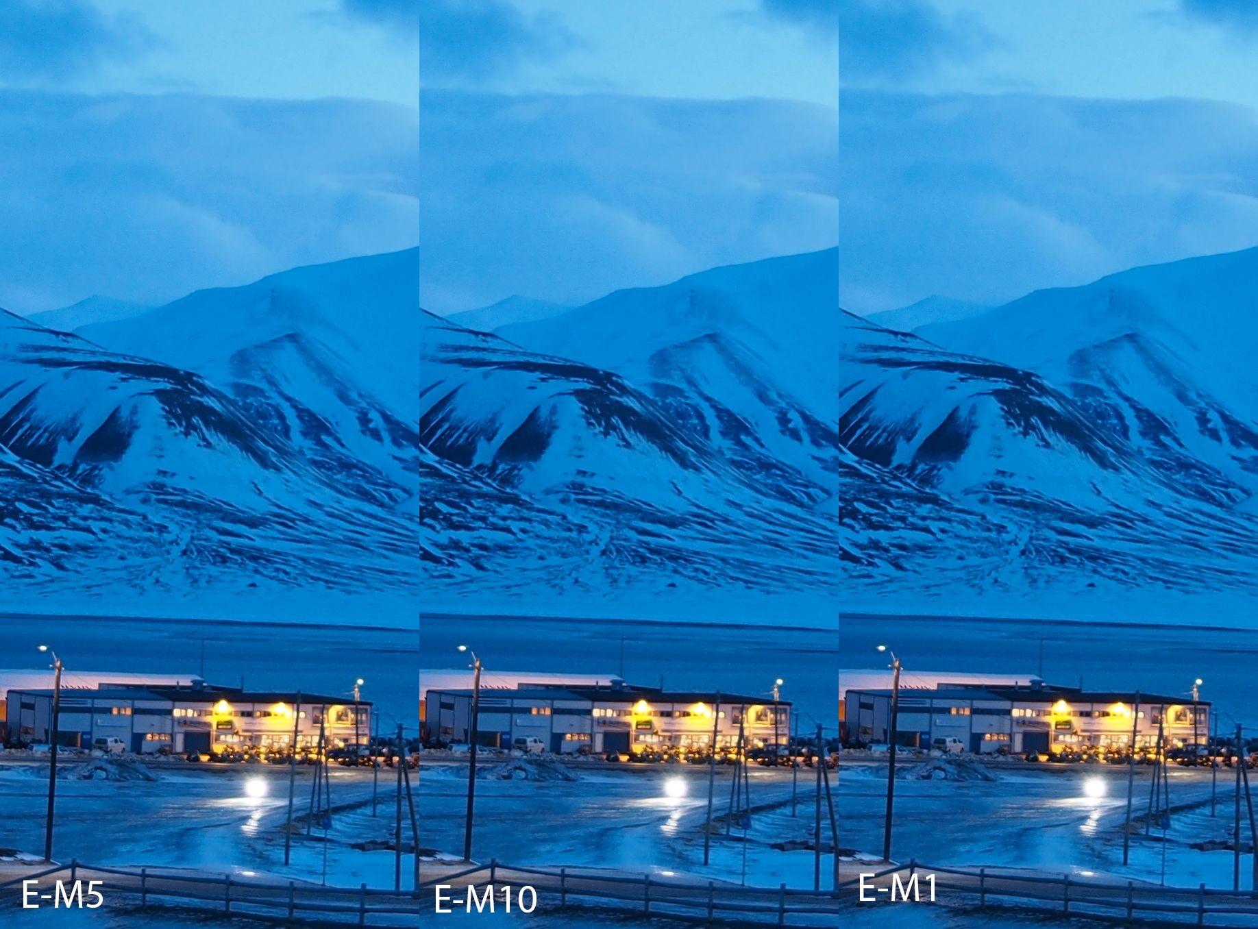 E-M5, E-M10 og E-M1 ved ISO200.Foto: Kjersti Stuestøl