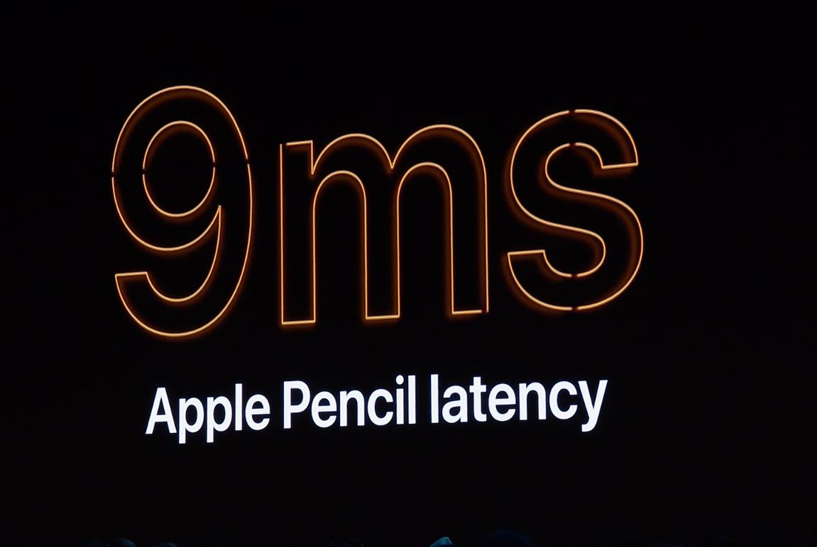Etterslepet på Apple Pencil er redusert fra 20 millisekunder til bare 9.