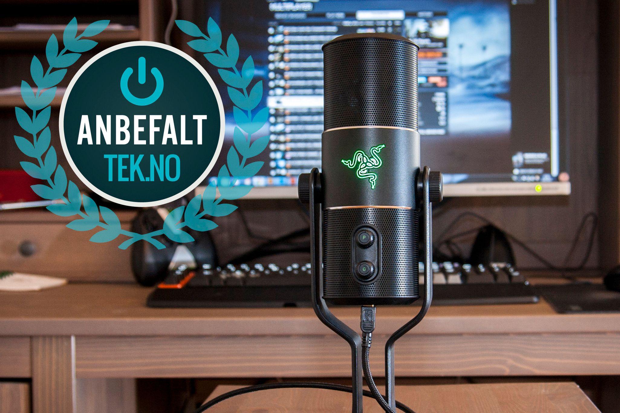 Skal du ha en god og brukervennlig mikrofon til YouTube-kanalen din eller lignende? Da er Razer Seiren et godt valg. Foto: Kristoffer Møllevik