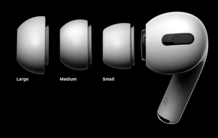 Det følger med tre forskjellige størrelser på silikontuppene.