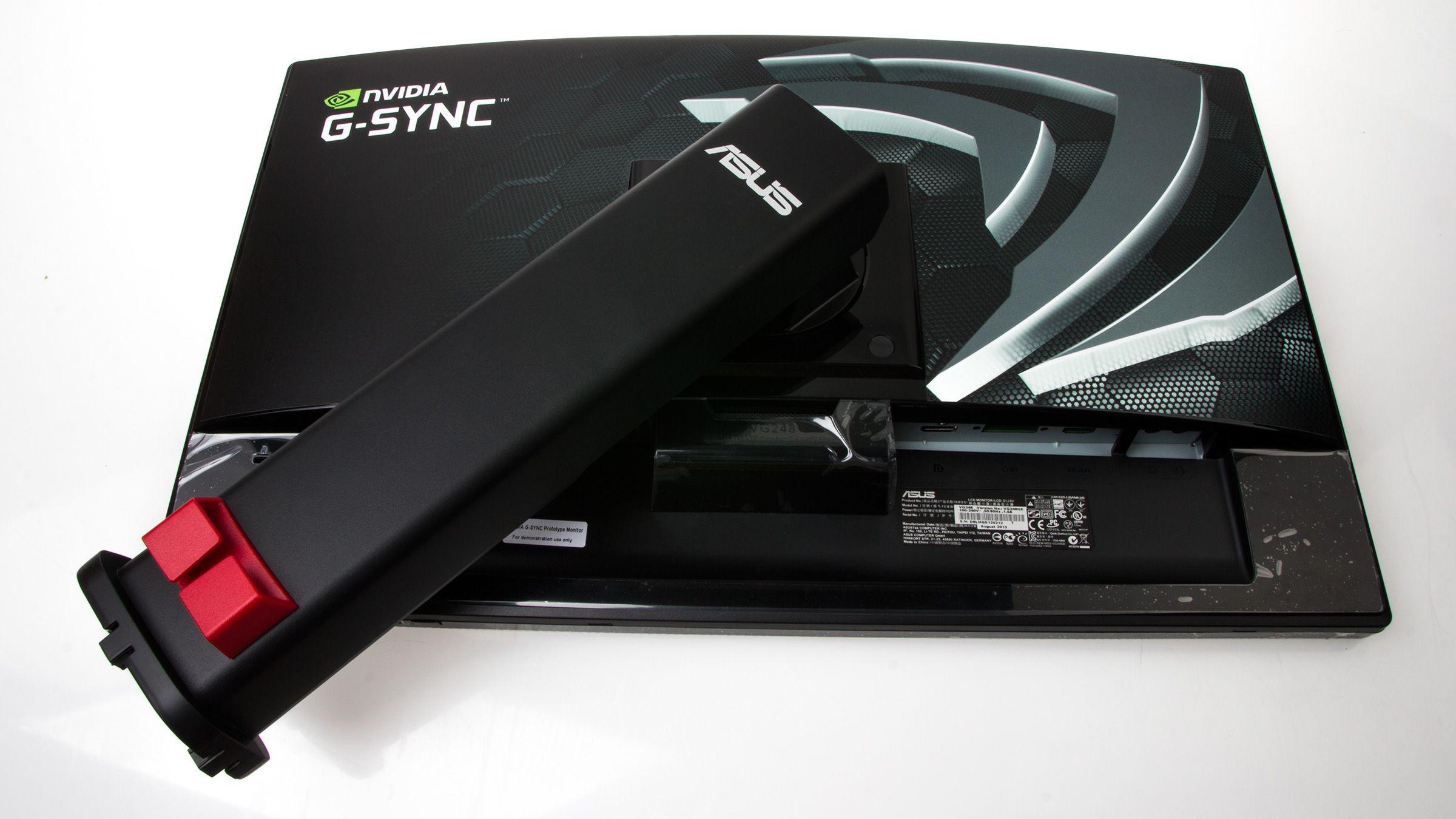 Som dere ser på de manglende DVI- og HDMI-inngangene er dette ikke en av de ferdige produksjonsmodellene som kommer for salg.Foto: Varg Aamo, Hardware.no