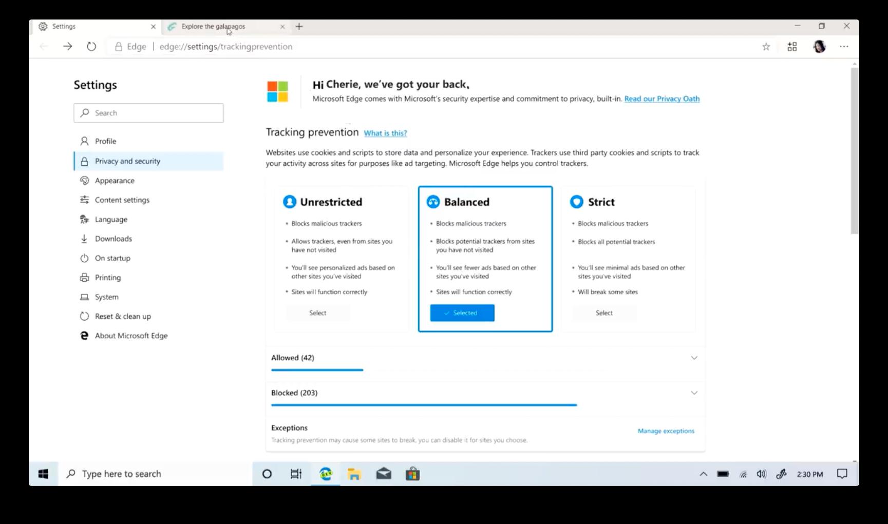 Det nye dashbordet for personvern lar deg enkelt bestemme hvor mye info ulike nettsider skal få lagre om deg.