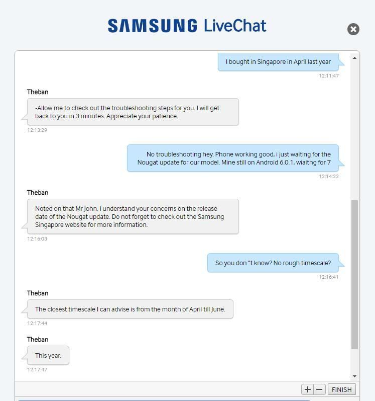 Her fikk brukeren de skuffende nyheten fra Samsung...