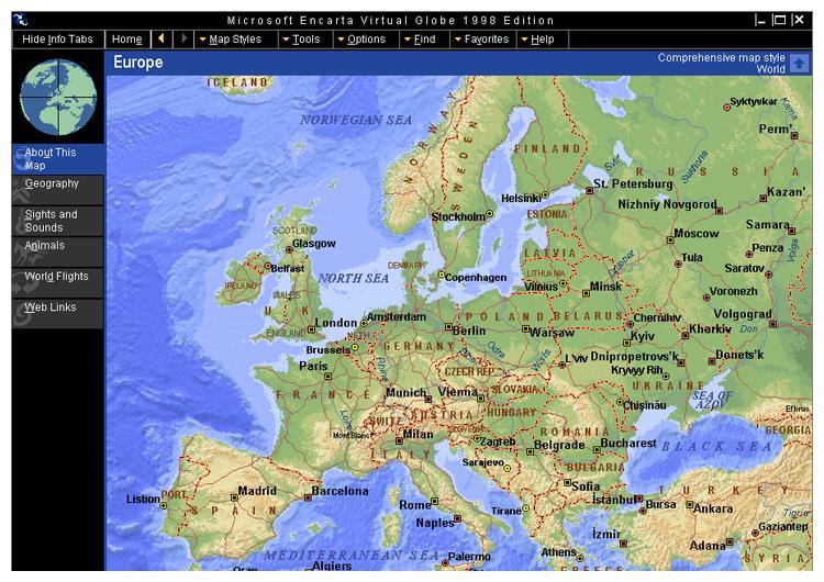 Kartene i CD-ROM-leksikonet var fine på slutten av 90-tallet, men etter at Google Earth kom i 2004 har vel knapt noen sett på dem.