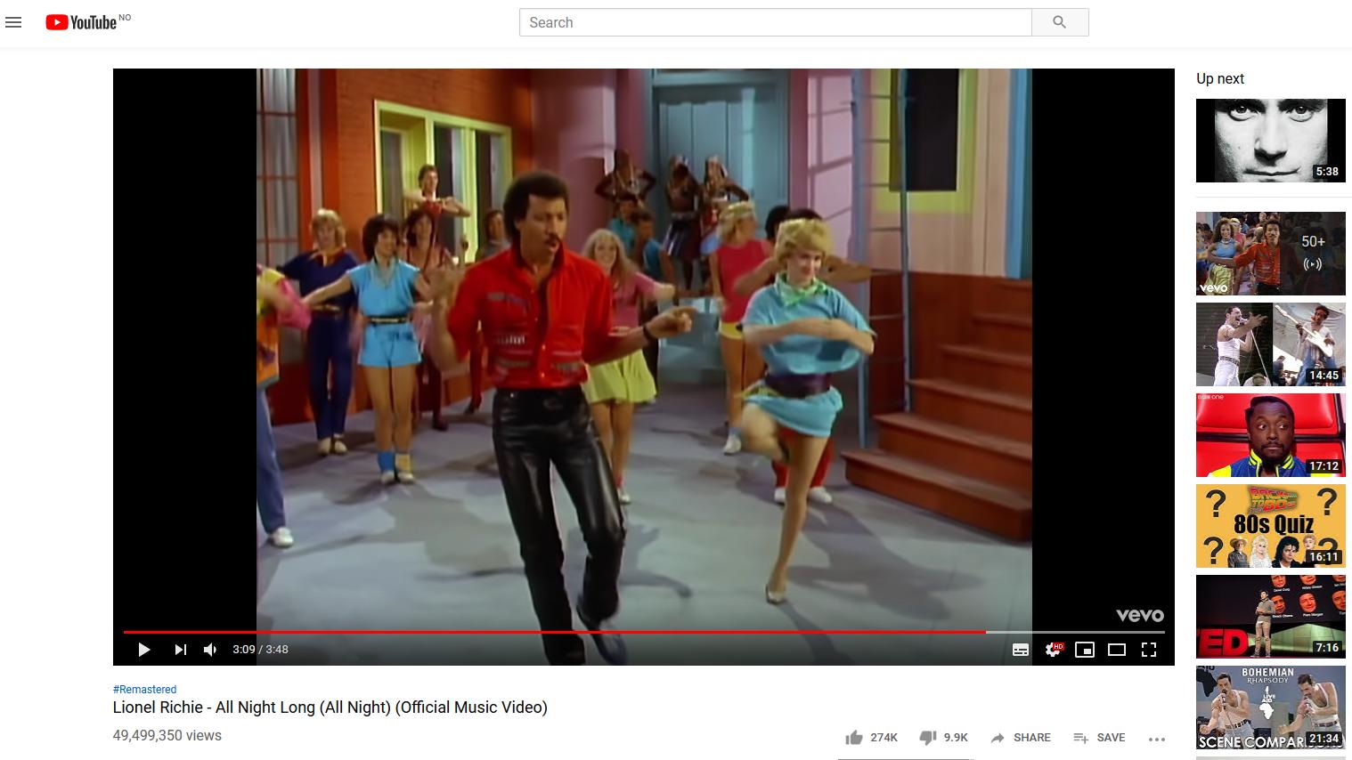 YouTube pusser opp ikoniske musikkvideoer til Full HD
