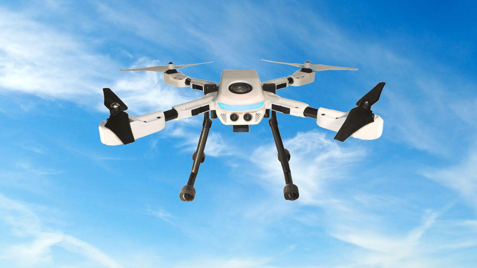 Denne kameradronen kan bli med over alt