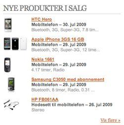 Tips: På forsiden vår finner du en slik oversikt over de nye produktene som har kommet på lager i norske nettbutikker.