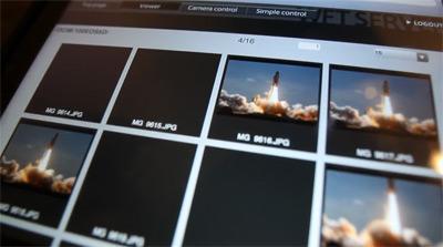 WFT-serveren sett på Ipadskjermen
