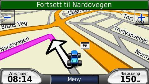 Slik ser det ut når du navigerer.
