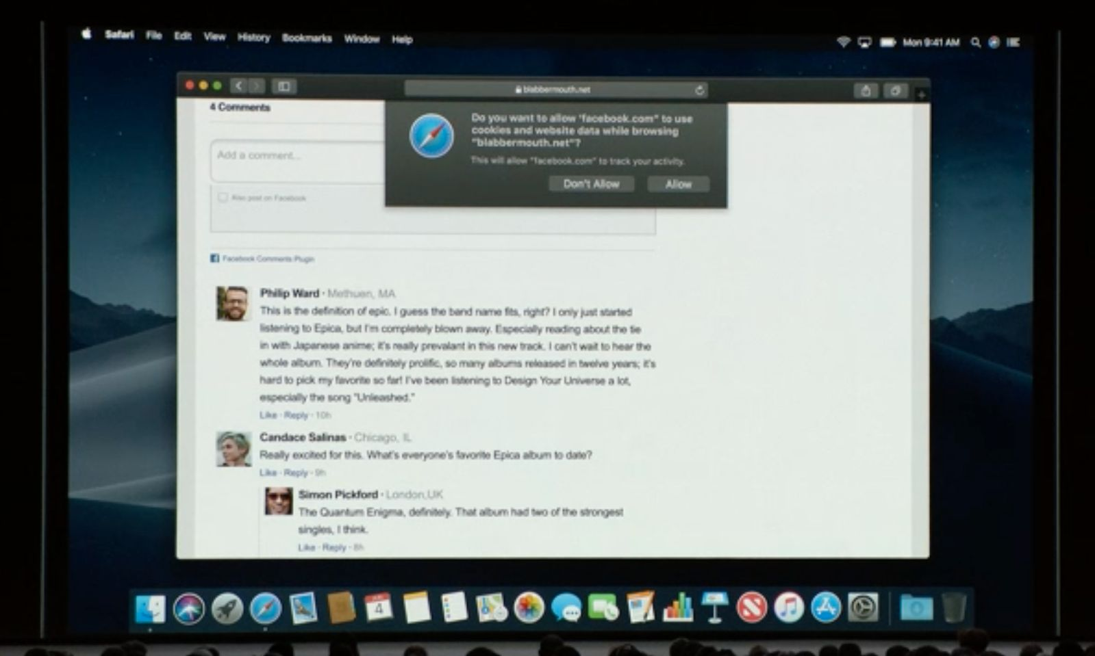 Safari i macOS Mujave vil blokkere liker-knapper og kommentarfeltsporing som standard.