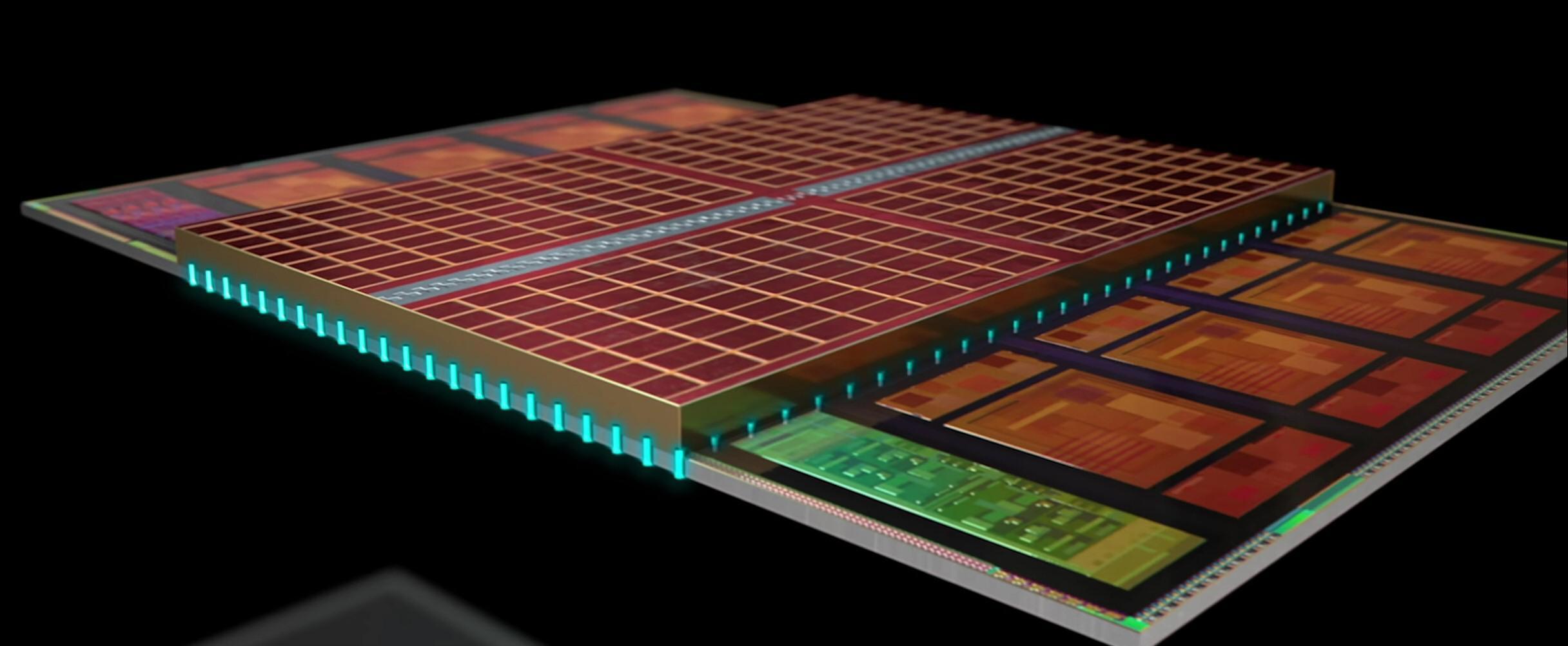 Med 3D V-Cache bygger AMD i høyden og klasker 64 MB L3-cache ekstra oppå hver CCD-chiplet.