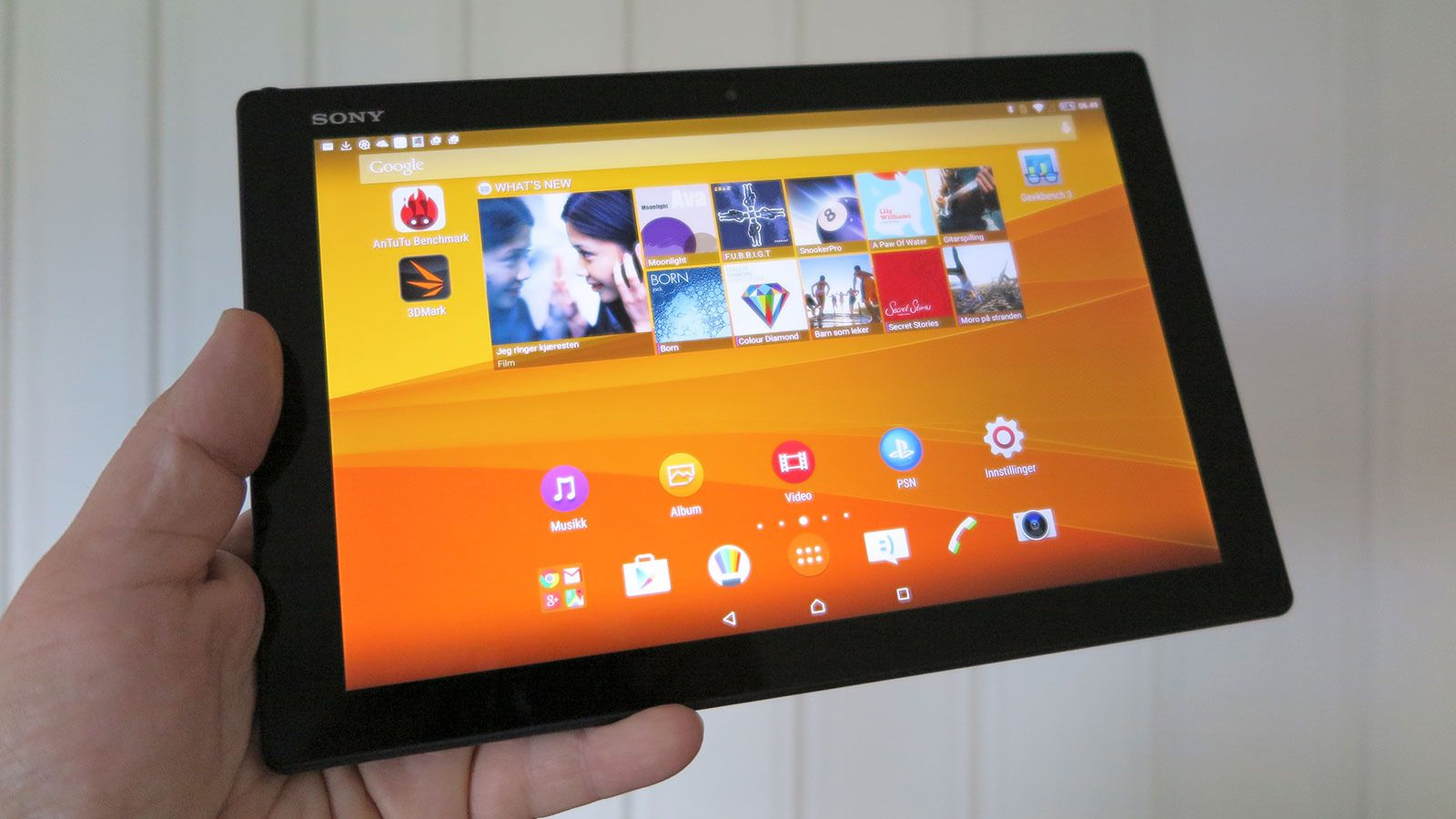 Sony Xperia Z4 Tablet. Foto: Espen Irwing Swang, Tek.no