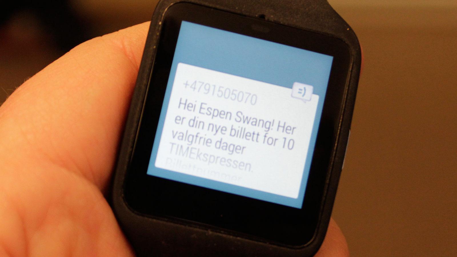 Slik kan det se ut når du mottar en SMS. I teorien kan du lese inn et svar.Foto: Espen Irwing Swang, Tek.no
