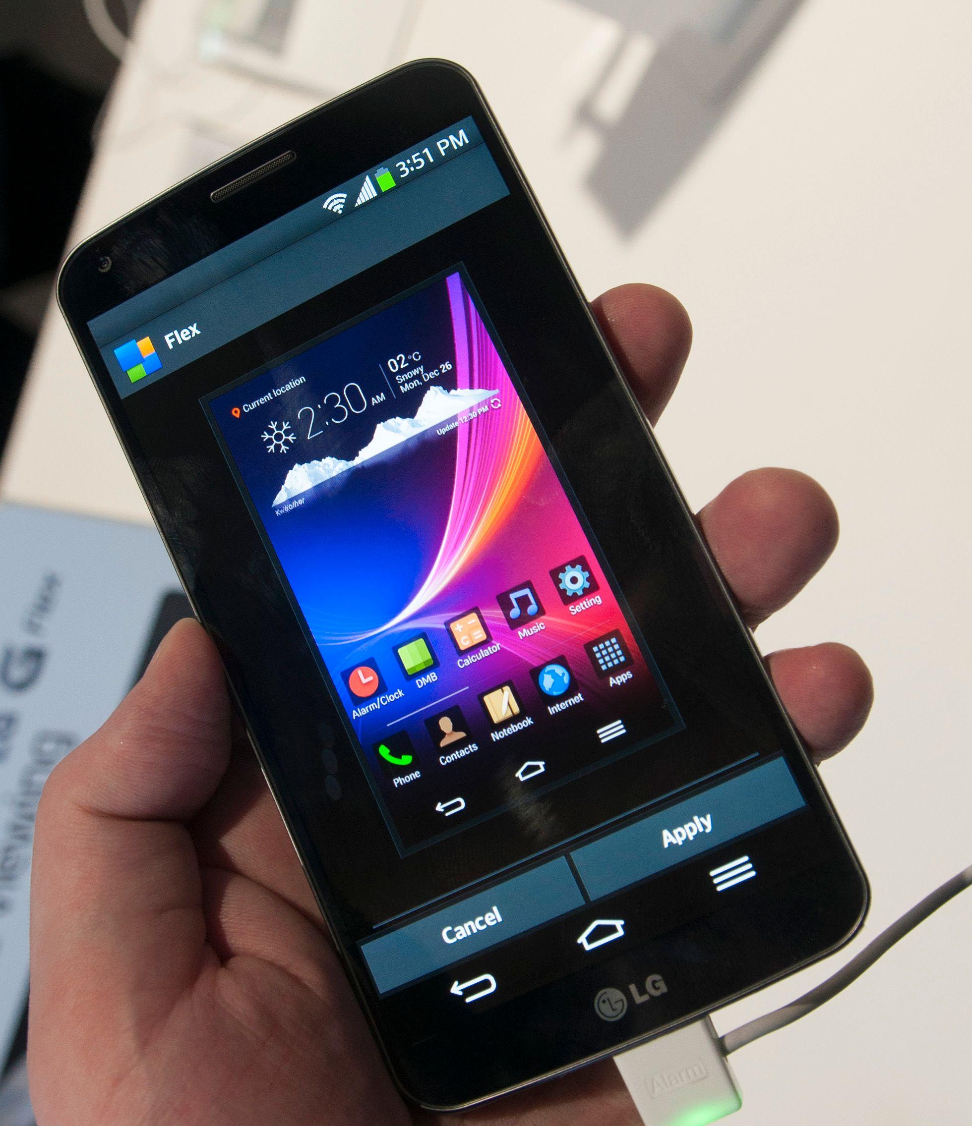 Menyene er litt annerledes på G Flex enn på tidligere LG-telefoner.Foto: Finn Jarle Kvalheim, Amobil.no