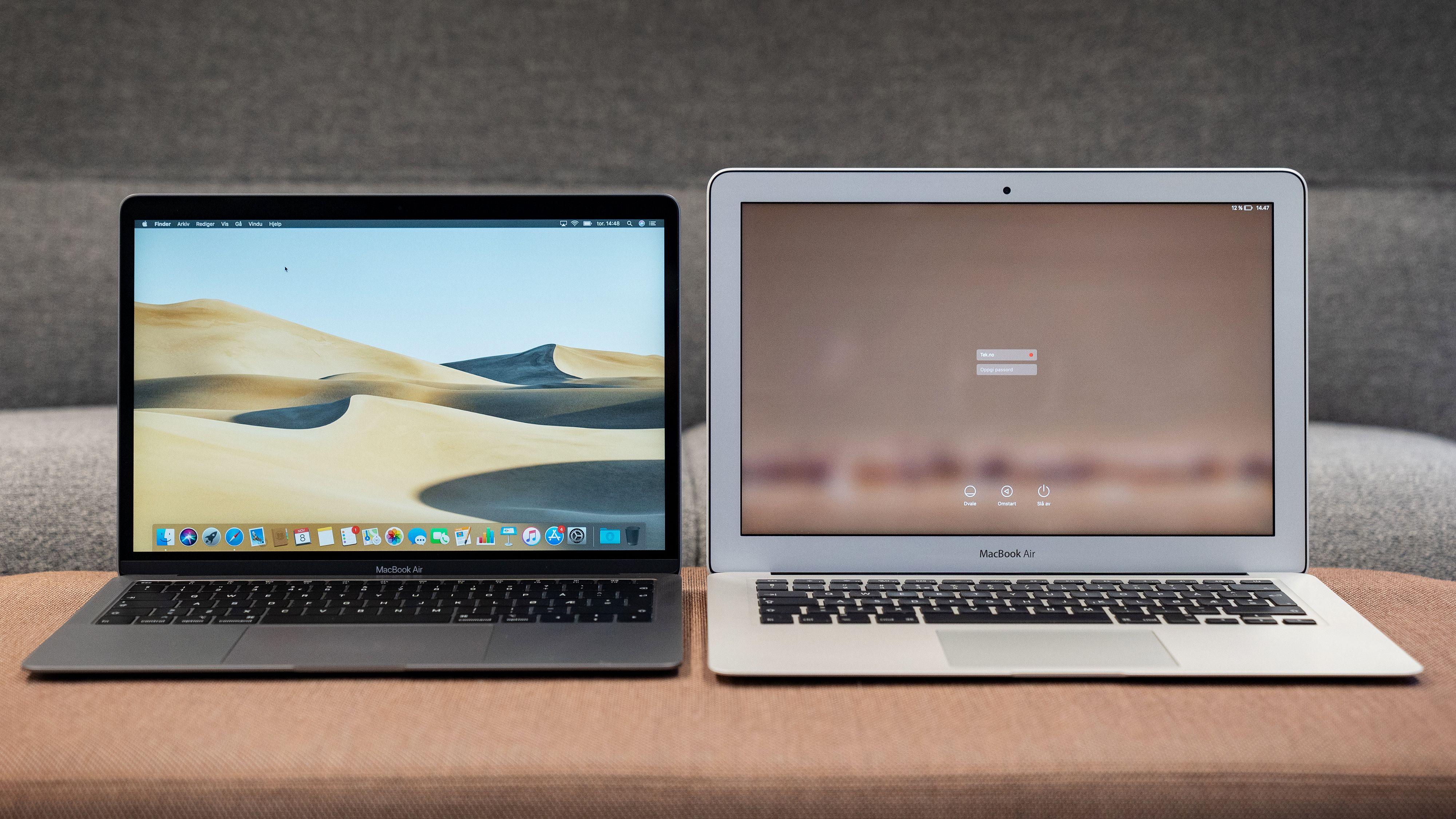 Se forskjellen på gamle og nye MacBook Air