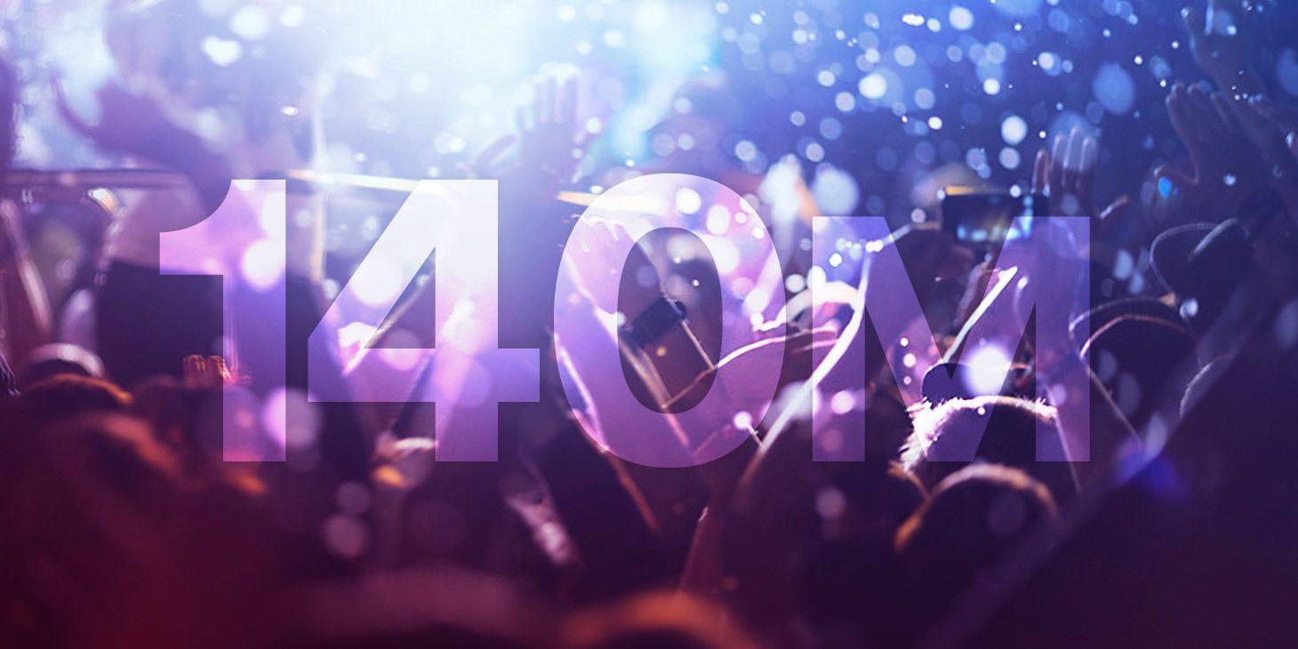 Spotify feirer 140 millioner brukere.