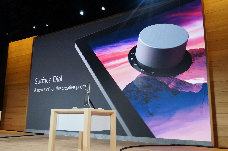 Surface Dial, ekstrautstyr til Surface Studio. Bilde: Stein Jarle Olsen, Tek.no