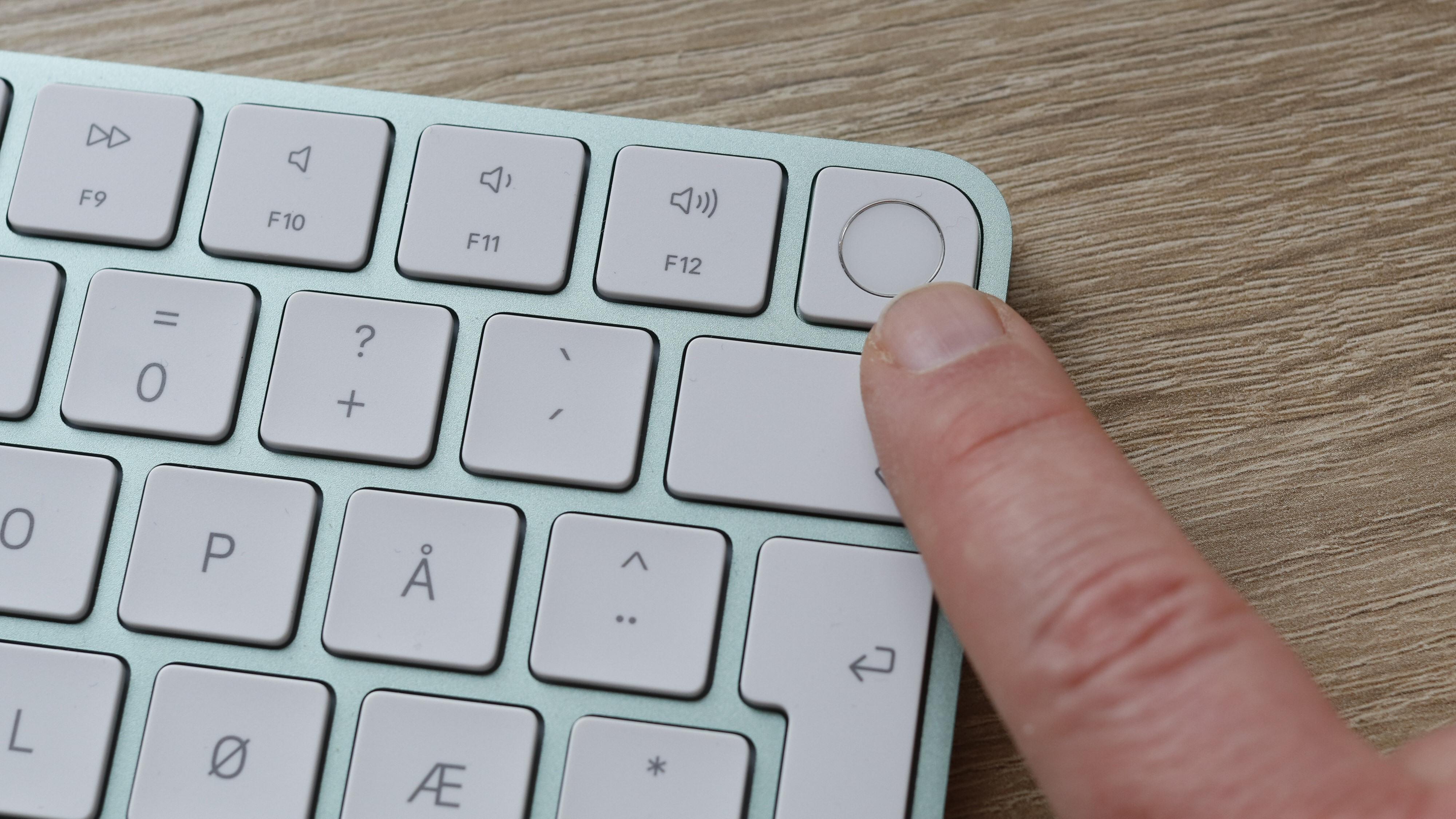 Tastaturet med Touch ID er tilvalg for innstegsmodellen, men det hadde vi spandert på oss. Spesielt om datamaskinen skal brukes av flere personer.