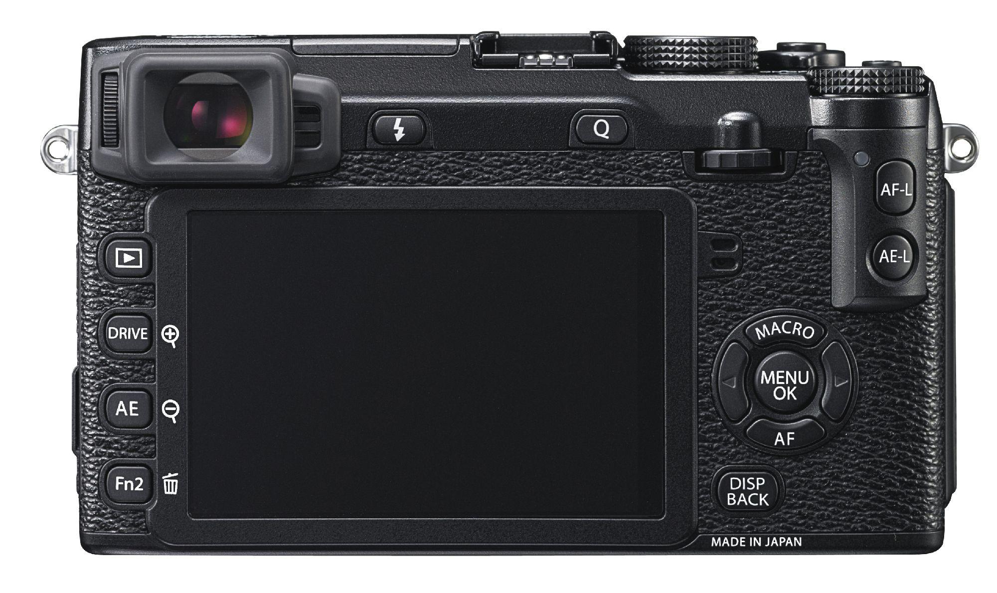Baksiden til X-E2. (Foto: Fujifilm)